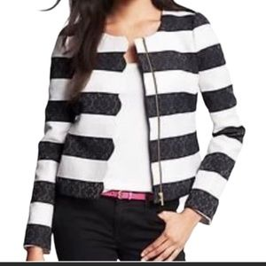 Banana Republic Striped Scalloped Parisian Jacket